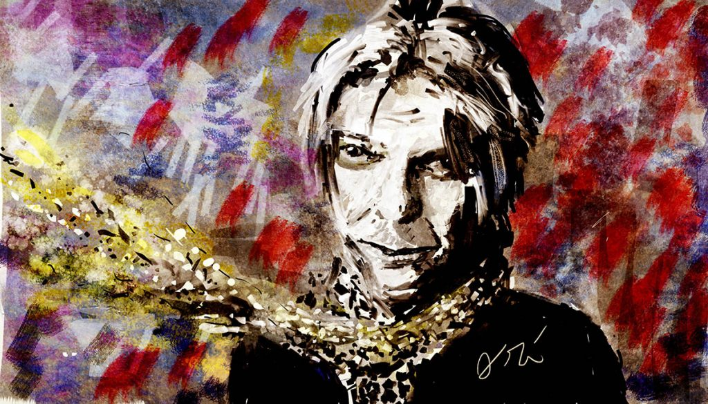 "Painting of David Bowie- ""Starman"""