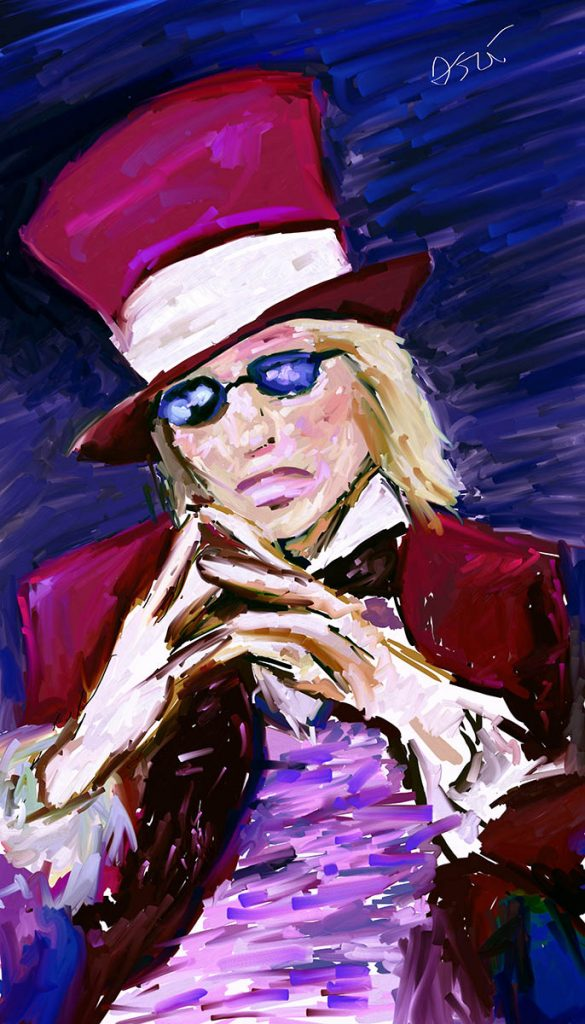 "Painting of Tom Petty – ""The Poet"""